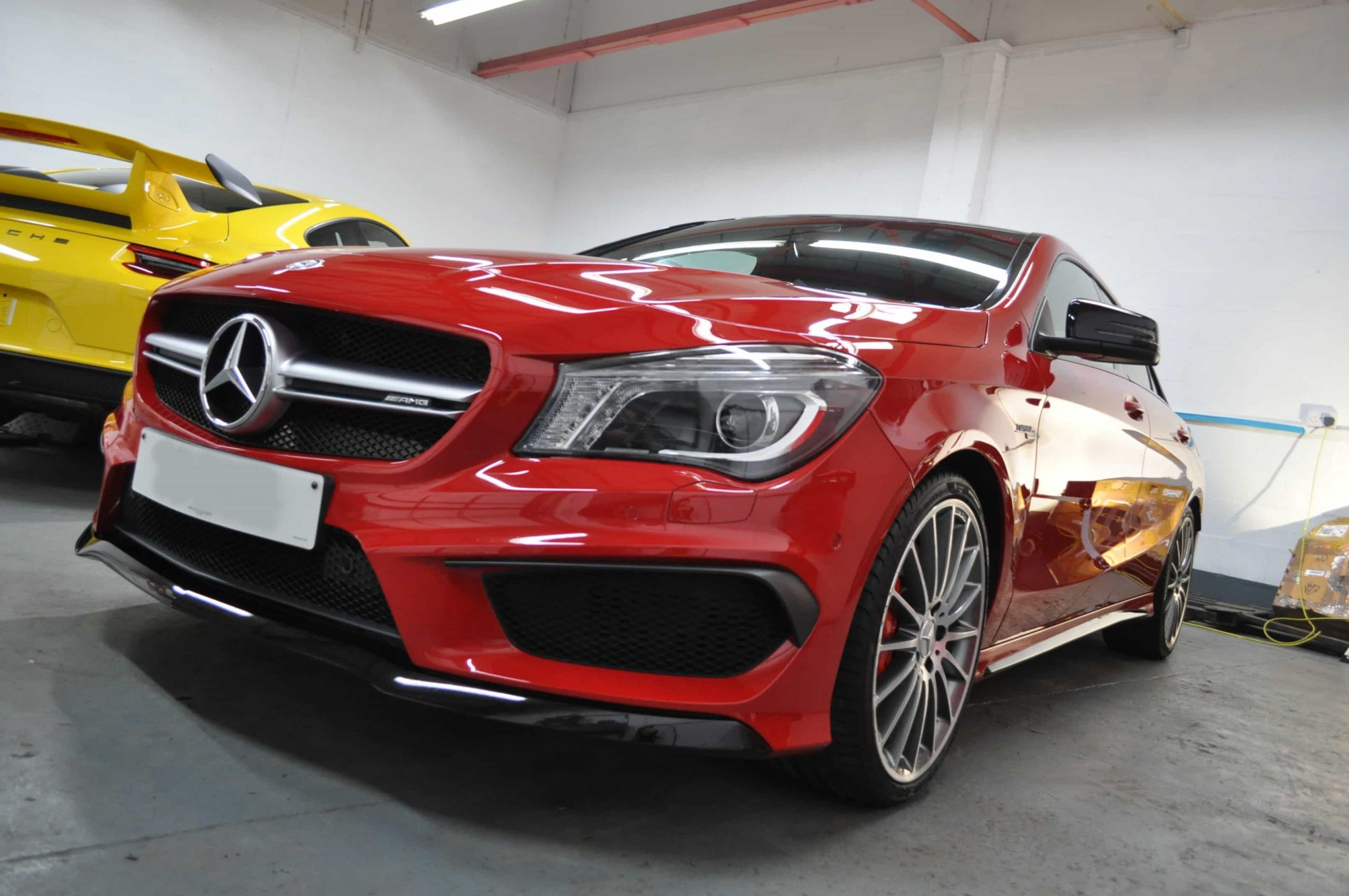 Red Mercedes Glasgow